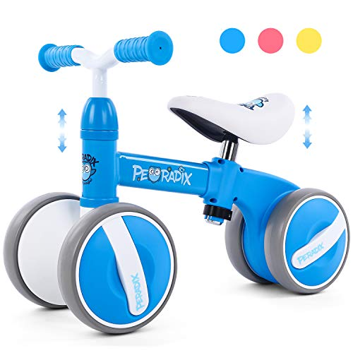 Peradix Kinder Laufräder Baby Lauflernrad Balance Fahrrad Dreirad Spielzeug für Jungen Mädchen, Empfohlenes Alter: 10-36 Monate (Blau)