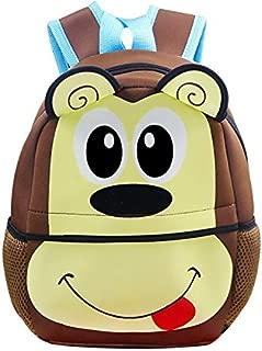 Kids Backpack | Fenrici | Boys | Girls | Toddler | Preschooler | Cute Animal | Monkey | Brown