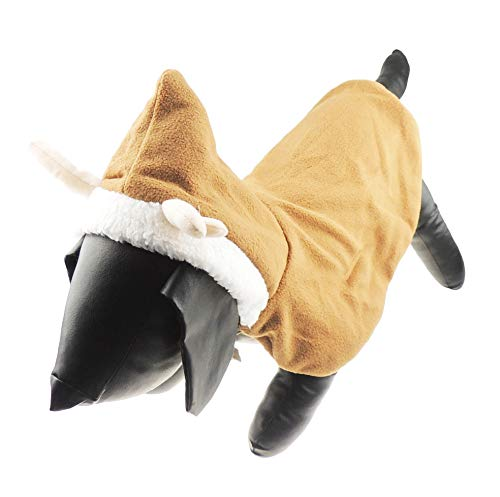Glamour Girlz Hond Kat Feestelijke Kerstmis Warm Winter Meisje Jongen Jumper Jas Outfit Kostuum Chocolade Kaap Rendier, Medium, BRON