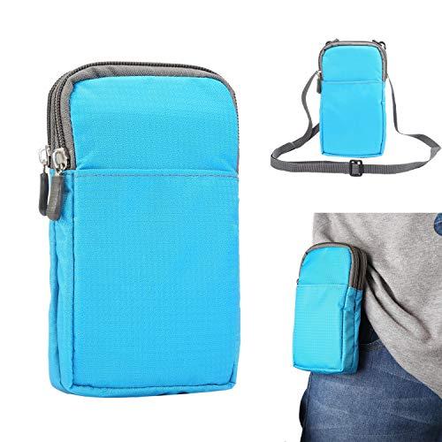 Teléfono clips de cinturón Corrientes de los deportes de la correa de la cintura paquete, pequeño Cruzado Bolsas for mujeres de los hombres, 6,0 pulgadas de Monedero bolsa de la caja del bolso de homb