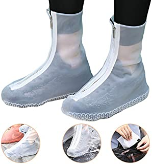 Mchuxin Waterproof Silicone Boot and Shoe Covers, Reusable Waterproof Rain Socks, Non Slip Stretchable Rain Shoe Cases for Kids,Men and Women