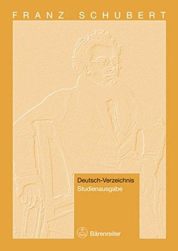 Franz Schubert. Deutsch-Verzeichnis. Studienausgabe