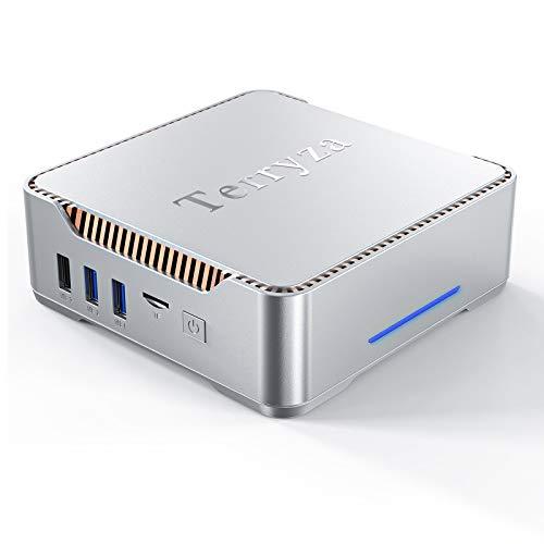 Mini PC Windows 10 Pro with Intel Celeron N3350,8GB RAM 128GB ROM Micro Desktop Computer with HDMI & VGA Ports,Support 4K HD,Bluetooth 4.2 & 2.4G/5.0G Dual Band WiFi