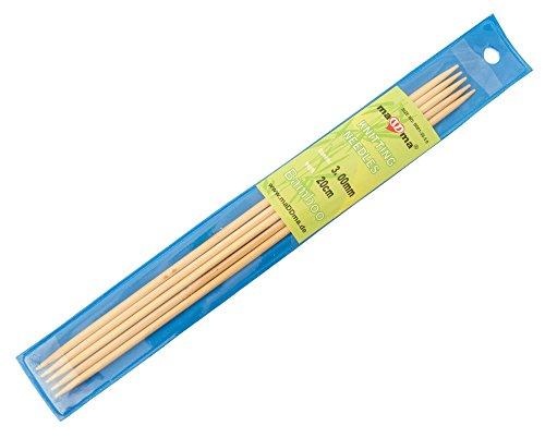 Bambus Nadelspiel Strumpfstricknadeln, Länge und Stärke wählbar, Größe:20cm x 3.0mm