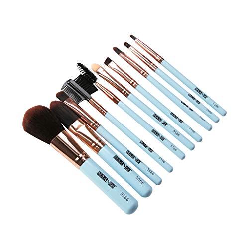 syeytx Cosmétique En Bois Maquillage Brush Foundation Cosmétique Sourcils Fard À Paupières Brosse Maquillage Brush Sets Outils 10PCS