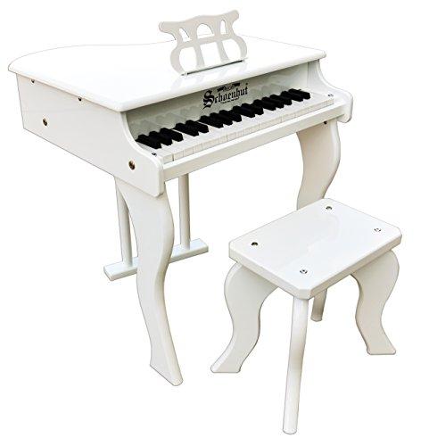 Schoenhut 37 Key Elite Baby Grand Piano, White