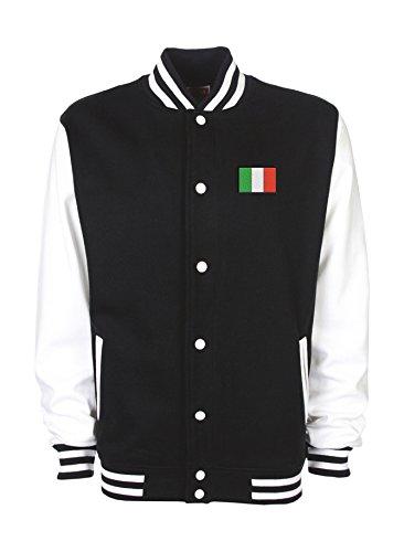 Ann Susan College Jacke Bestickt mit Italienfahne und Bedruckt mit Italien/Italy Unisex, oder individuell gestaltbar