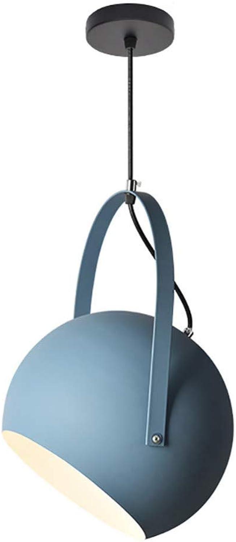 Pendelleuchte Einfach Installieren Kronleuchter E27 Basis Eisen Licht Abdeckung Moderne Minimalistische Bar Lampen Nordic Restaurant Lichter Esszimmer Home Beleuchtung,Blau