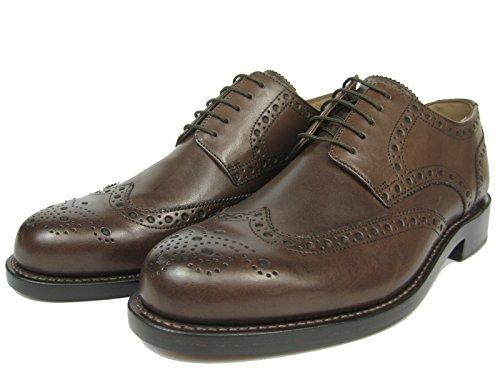 J.Briggs Herren Leder Schuh Derby Full Brogue Budapester Schnürhalbschuhe Goodyear Welted Rahmengenäht