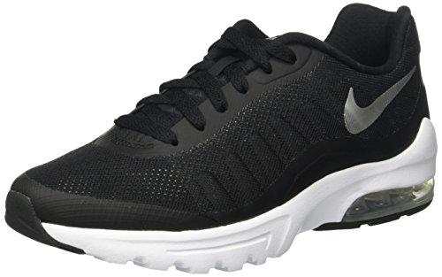 Nike Air Max Invigor Laufschuhe Damen, Black (Schwarz / Metallic Silber-Weiß), 40.5 EU