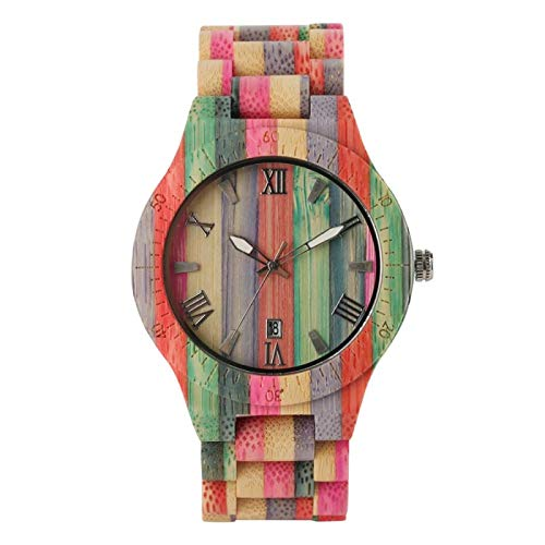 Reloj de Moda para Hombre, Reloj de Cuarzo de Madera de Lujo, Popular, único, Color Caramelo, muñeca de Madera Completa, Reloj para Mujer, Reloj Masculino, Regalos de Recuerdo para Hombres