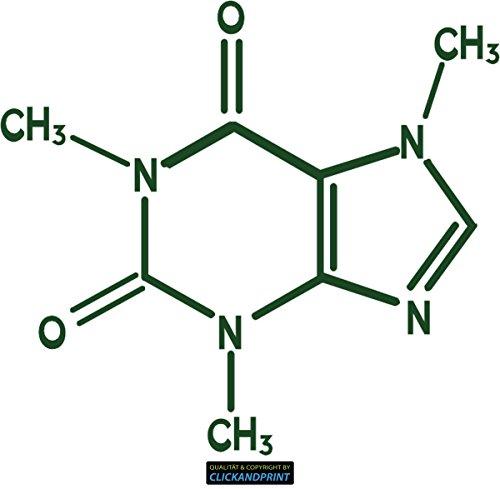 CLICKANDPRINT Aufkleber » Koffein, 110x99,9cm, Metallic Waldgrün • Dekoaufkleber / Autoaufkleber / Sticker / Decal / Vinyl