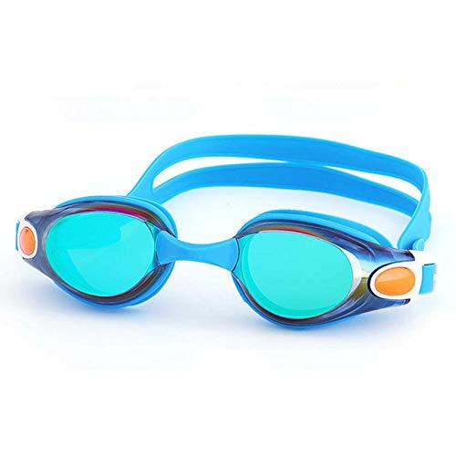Gafas de natación para niños con visión amplia y antiempañamiento antideslizante