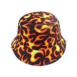 DHDHWL Cubo Sombrero Negro Pesca Tapas Pescador Hip Hop Patrón Cubo Sombreros Hombres Transpirable