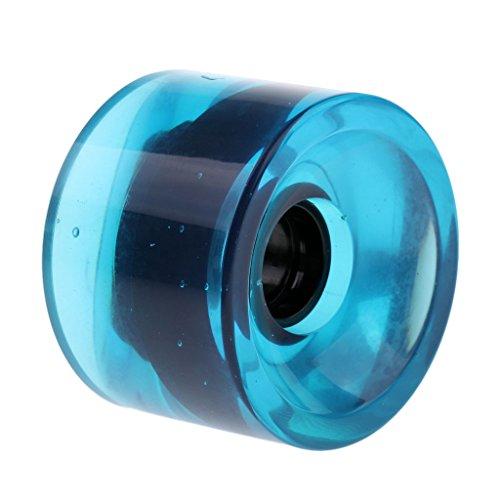 perfeclan 70 X 51 Mm Langlebiges Pro Blank Skateboard PU Laufrad Longboard Cruiser Laufrad - klar Blau