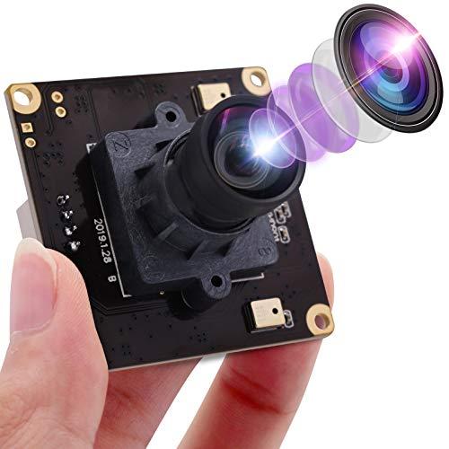 Mermaid 4K USB Kamera IMX317 Bildsensor Webcam mit 100 Grad ohne Verzerrung Industrial Minicam für Windows Mac Android Linux, 3840x2160 @ 30fps USB Kameramodul Plug & Play
