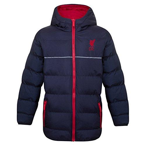Liverpool FC - Plumífero acolchado oficial con capucha - Para niño - Azul marino - 4-5 años