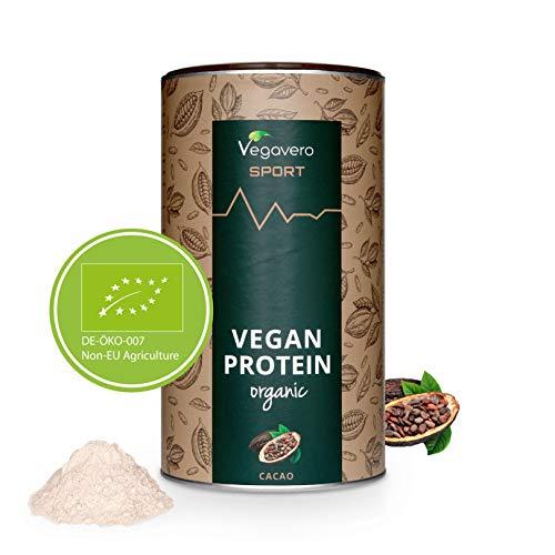 PROTEINE Vegane BIO Vegavero® | Misurino INCLUSO! | Proteine Isolate Pisello e Riso | Senza Aspartame o Sucralosio | Gusto CIOCCOLATO | 500 g