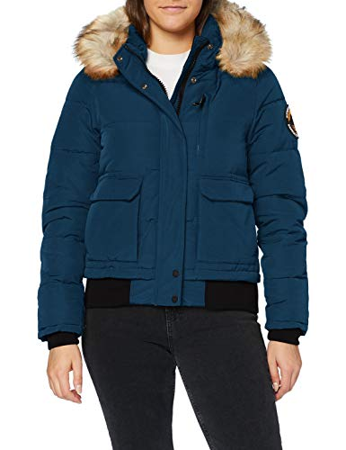 Superdry Womens Everest Bomber Jacket, Ocean Blue, M (Herstellergröße:12)
