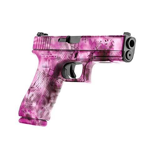 GunSkins Pistol Skin - Premium Vinyl Gun Wrap with Precut Pieces - Easy to Install and Fits Any Handgun - 100% Waterproof Non-Reflective Matte Finish - Made in USA - StalkLand Lotus