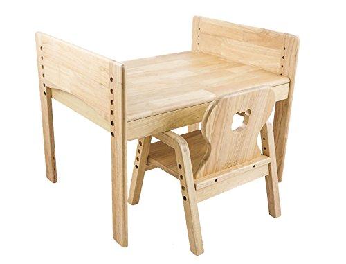 Kindersitzgruppe Pro, Kindertisch + Stuhl, Motiv: Bär, 100% Massivholz