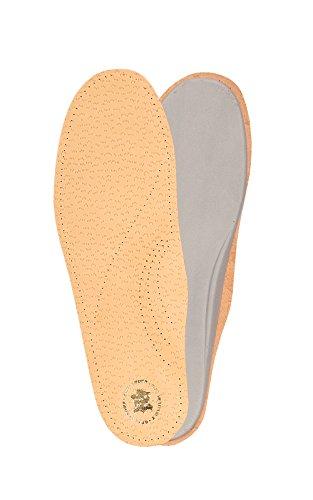 Orthotische lederen inlegzolen voor gevallen longitudinale boog, schoen invoert voor platte voeten, voor mannen en vrouwen, plantaardig gelooid leer, Kaps Anatomix, alle maten