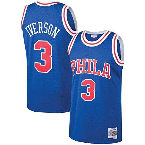 Basketball Trikot - Herren Philadelphia 76Ers Basketball Trikots # 3 Swingman Basketball Trikots Atmungsaktive bestickte Mesh Sportswear (GRÖSSE: S-XXL)