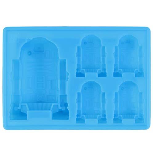 1pc schattige R2-D2 ijsbak siliconen mal kubus chocolade fondant mallen keuken kookgerei voor kinderfeestjes blauw