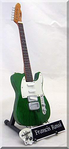 FRANCIS ROSSI STATUS QUO Miniatur-Gitarre mit Plektrum
