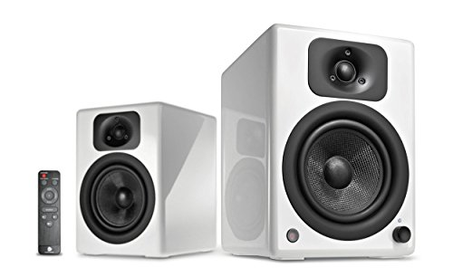 wavemaster TWO NEO white – Regallautsprecher-System (60 Watt) mit Bluetooth-Streaming, digitalen Anschlüssen und IR-Fernbedienung Aktiv-Boxen Nutzung für TV/Tablet/Smartphone, weiß (66361)