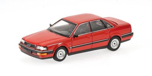 Minichamps 400016001–Audi V8, Scala: 1: 43, Colore: Rosso