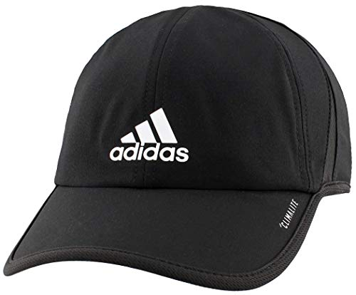 adidas Men's Superlite Relaxed Adjustable Performance Cap, Black/White, One Size