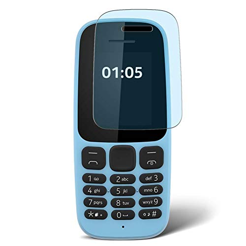 Vaxson 4 Unidades Protector de Pantalla Anti Luz Azul, compatible con Nokia 105 2017 [No Vidrio Templado] TPU Película Protectora