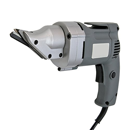 XtremepowerUS Premium 4.0-Amp Corded Variable Speed Swivel Head Electric Metal Cutter Shear, Grey