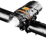 自転車ヘッドライトUSB充電式 高輝度 6段階点灯モード IPX5防水防振 中電灯兼用 ポーツ・アウトドア 自転車・サイクリング 用 ライト 防災フロント用
