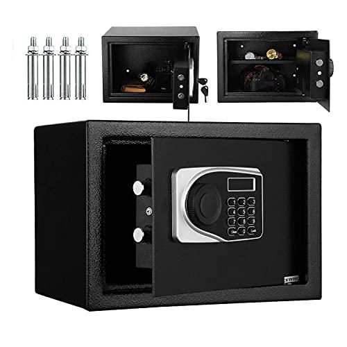 HCYY Coffre-fort électronique de sécurité avec clavier, pour la maison, le bureau, 2 clés d urgence 35 x 24 x 24 cm