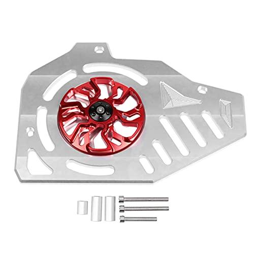 Cubierta del protector de la parrilla del radiador de la motocicleta, Fydun Acero inoxidable Cubierta del radiador de la motocicleta Gire la protección del ventilador Rojo plateado para MAX 155/125/15