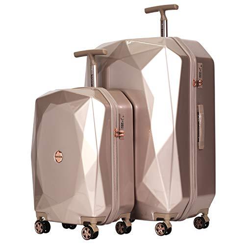 Travelers Club Luggage 2 PC Set, Rose Gold