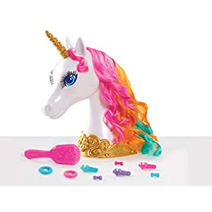 Barbie Dreamtopia Unicorn Styling Head, 10-Pieces