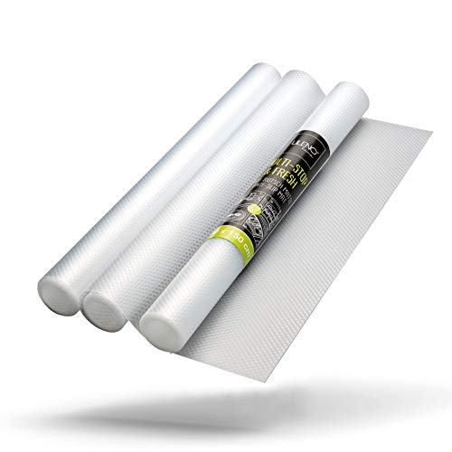 LILENO HOME Schubladenmatte 30x45 cm 3er Set (transparent) - Antirutschmatte Schubladen als Schubladeneinlage für Kühlschrank - Schublade Einlagen zuschneidbar als Antirutschmatten Küche