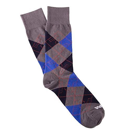 Copa Argyle - Calcetines de fútbol para hombre, Hombre, 5107, gris, Size 40 - 46