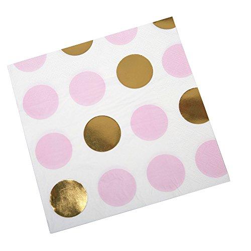Neviti Pattern Works Servietten, Punkte, Pink