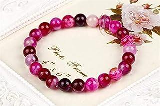 8mm Véritable Coloré Naturel Tourmaline Pierre Bracelets pour Les Femmes Yoga Charm Stretch Perle Bracelet