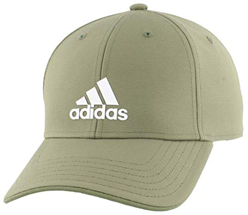 Adidas Herren-Kappe, strukturiert, verstellbar, Herren, Kappe, verstellbare Kappe, Men's Decision Structured Adjustable Cap, Grün/Weiß, Einheitsgröße
