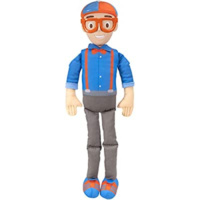 """Blippi Bendable Plush Doll, 16"""" Tall Featuring SFX - Squeeze The Belly to Hear Classic catchphrases - Fun, Educational Toys for Babies, Toddlers, and Young Kids by Jazwares, LLC."""