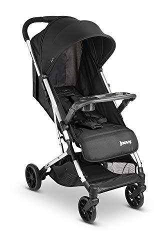 Joovy Kooper Stroller, Lightweight Travel Stroller, Compact Fold with Tray, Black