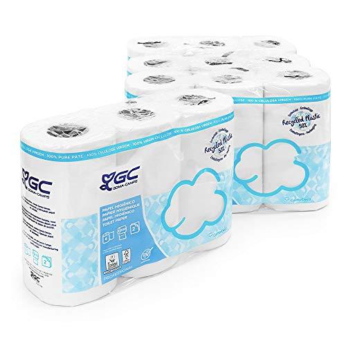 Papel Higiénico de 2 Capas Acolchado 200 Servicios, Papel Ecológico Certificado,Envío URGENTE desde España(24 Rollos)