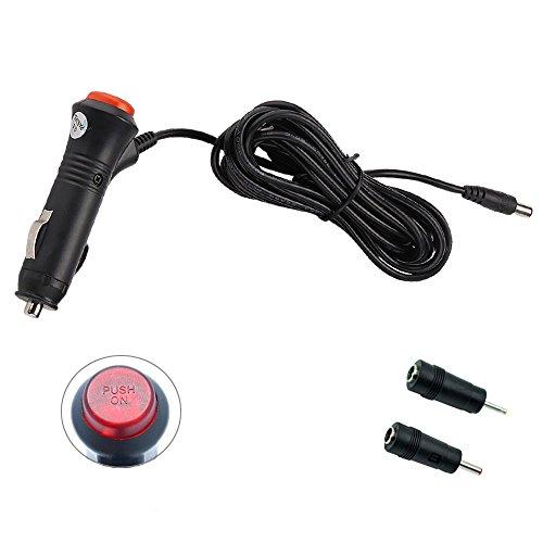 REARMASTER Encendedor Cable de alimentación del mechero Cargador de Coche para Reproductor DVD portátil Monitor de Coche Cámaras de Marcha atrás CCTV Luces LED