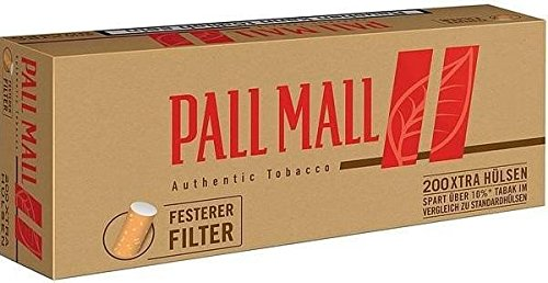 Pall Mall Authentic Red Xtra1000 (5x200) (Hülsen, Filterhülsen, Zigarettenhülsen)