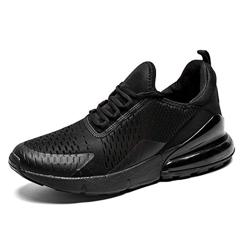 SOLLOMENSI Zapatillas para Hombre Calzados de Running Correr en Asfalto Montaña Atletismo Aire Libre y Deporte Deportivas Gimnasio Sneakers Transpirables Zapatos Casual 45 EU B Negro